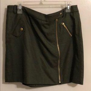 J.Crew Factory Olive Green Mini Skirt